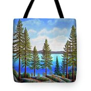 Pine Woods Lake Tahoe Tote Bag