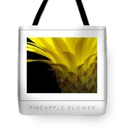 Pineapple Flower Poster Tote Bag