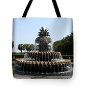 Pineapple Fountain Charleston River Park Tote Bag