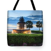 Pineapple Fountain Charleston South Carolina Sc Tote Bag