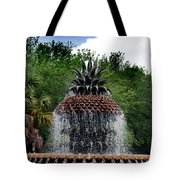 Pineapple Fountain Tote Bag by Skip Willits