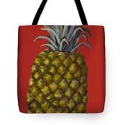 Pineapple On Red Tote Bag