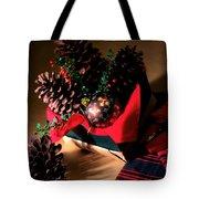 Pinecones Christmasbox Tote Bag