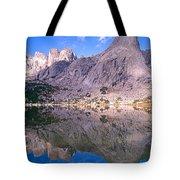 Pingora Peak On Lonesome Lake Tote Bag