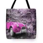 Pink 2cv  Tote Bag