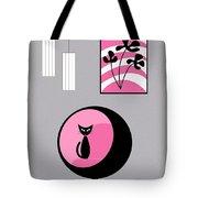 Pink 3 On Gray Tote Bag