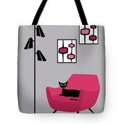 Pink 4 On Gray Tote Bag