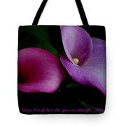 Pink An Purple Calla Lilys Tote Bag