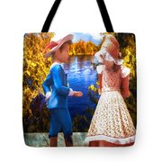 Pink And Blue Tote Bag