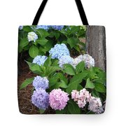 Pink And Blue Hydrangea Tote Bag