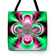 Pink And Green Rotating Flower Fractal 74  Tote Bag