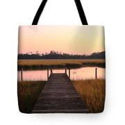 Pink And Orange Morning On The Marsh Tote Bag