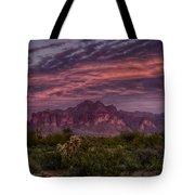 Pink And Purple Desert Skies  Tote Bag