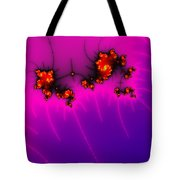 Pink And Purple Digital Fractal Artwork Tote Bag