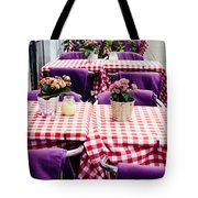 Pink And Purple Dining Tote Bag