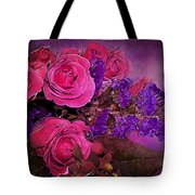 Pink And Purple Floral Bouquet Tote Bag