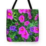 Pink And Purple Petunias Tote Bag