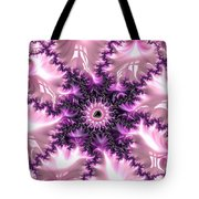 Pink And Purple Soft And Creamy Fractal Art Tote Bag