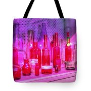 Pink And Red Bottles Tote Bag by Kaye Menner