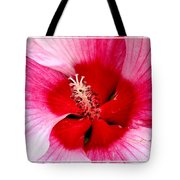 Pink And Red Hibiscus Flower Tote Bag