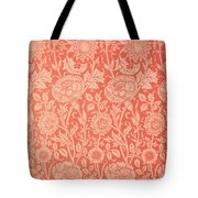 Pink And Rose Wallpaper Design Tote Bag by William Morris