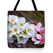 Pink And White 2 Tote Bag