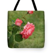 Pink And White Blended Stem Tote Bag
