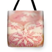Pink And White Cup Cakes Tote Bag