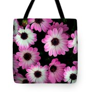 Pink And White Daisies Tote Bag