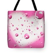 Pink And White Heart Reflections In Water Droplets Tote Bag