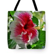 Pink And White Hibiscus Tote Bag