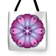 Pink And White Impatiens I Flower Mandala White Tote Bag