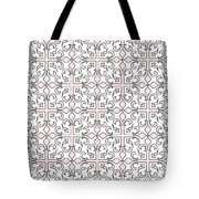 Pink And White Interlude Tote Bag