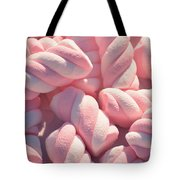 Pink And White Marshmallows Tote Bag