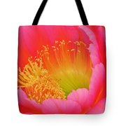 Pink And Yellow Cactus Flower Tote Bag