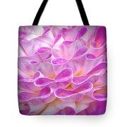Pink And Yellow Dahlia Tote Bag