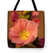 Pink And Yellow Hollyhock Tote Bag