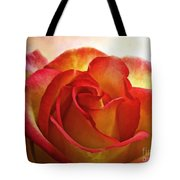 Pink And Yellow Rose - Digital Paint Tote Bag