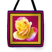 Pink And Yellow Rose Tote Bag