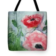 Pink Anemones Tote Bag