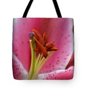 Pink Asiatic Abstract Tote Bag