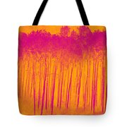 Pink Aspen Trees Tote Bag