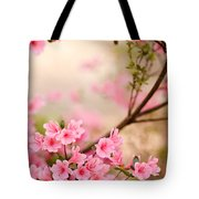 Pink Azalea Bush Tote Bag