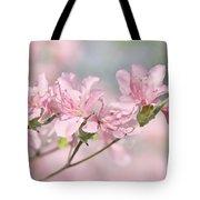 Pink Azalea Flowers In The Spring Tote Bag