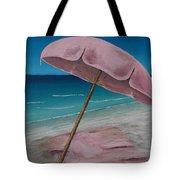 Pink Beach Umbrella Tote Bag