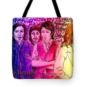 Pink Beatles From Rainbow Series Tote Bag