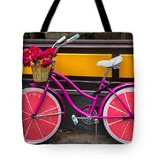 Pink Bike Tote Bag