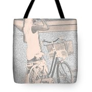 Pink Bike Tote Bag