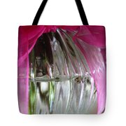 Pink Bowed Glass Tote Bag