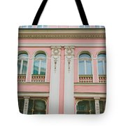 Pink Building Tote Bag